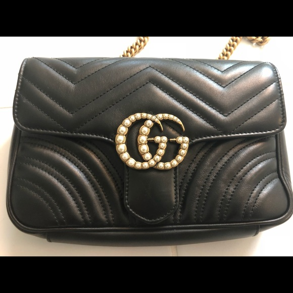 d56e798ba32b98 Gucci Handbags - 100% authentic Gucci pearl GG waist bag